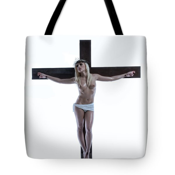 Crucified Christa Tote Bag