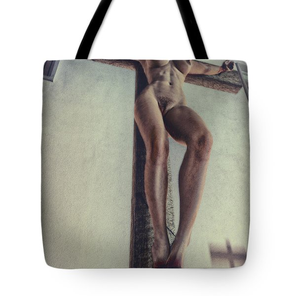 Crucified In The Street Tote Bag