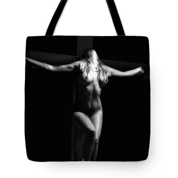 Crucified Woman Tote Bag