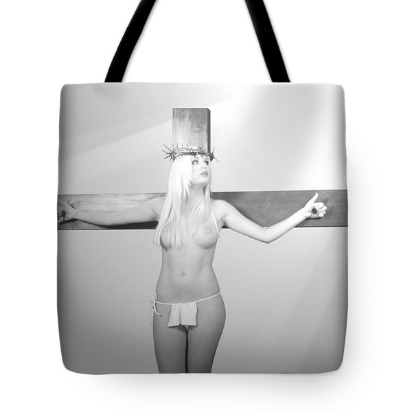 Crucifix And Light Tote Bag