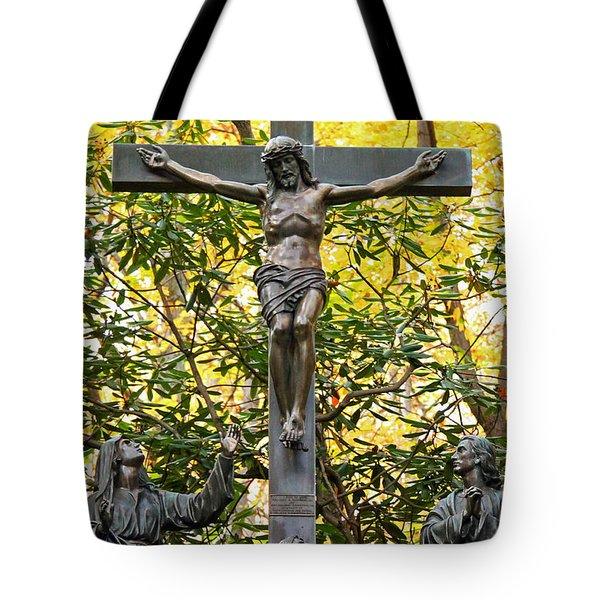 Crucifixion Tote Bag by Mitch Cat