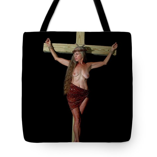 Crucifixion Of A Woman Tote Bag