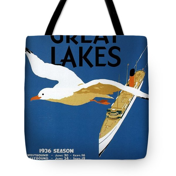 Cruise Across The Great Lakes - Canadian Pacific - Retro Travel Poster - Vintage Poster Tote Bag