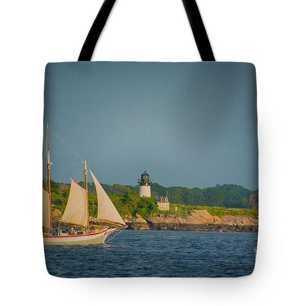 Cruise At Sunset Tote Bag