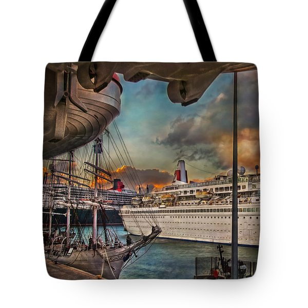 Cruise Port Tote Bag by Hanny Heim