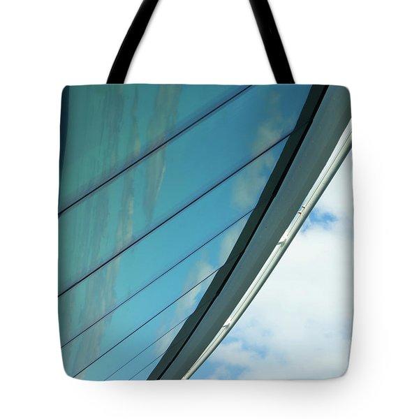 Cruise Ship Abstract Serenade Windows 1 Tote Bag