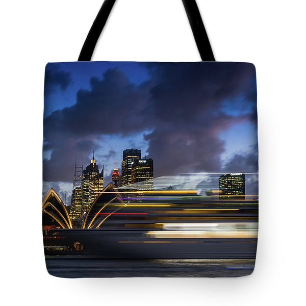 Cruise Ship Sydney Harbour Tote Bag