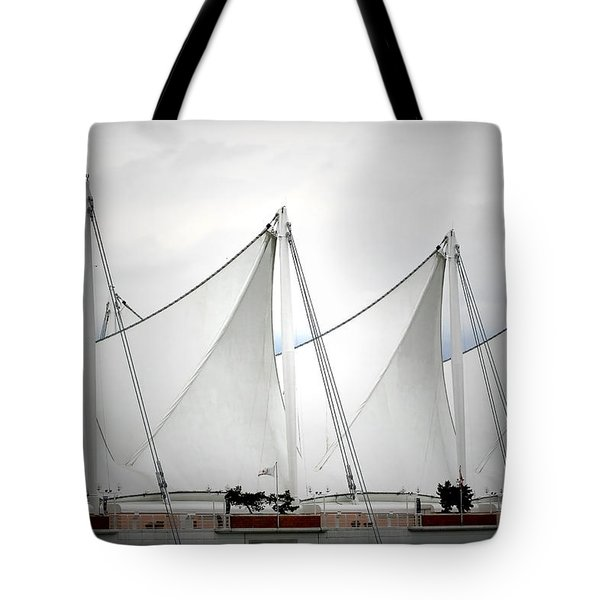 Cruise Ship Terminal Vancouver Canada Tote Bag by Christine Till