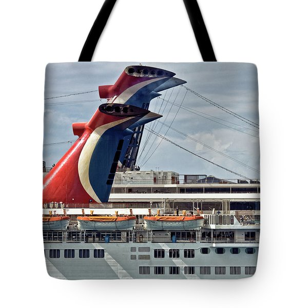 Cruise Ships In Cozumel, Mexico Tote Bag