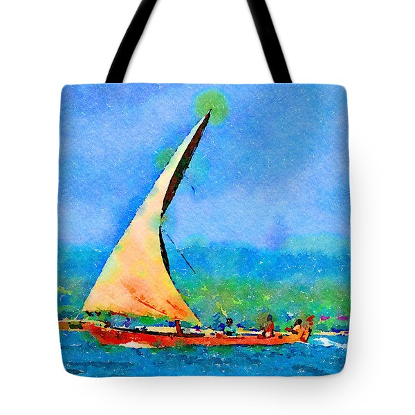 Tote Bag featuring the painting Cruisin by Angela Treat Lyon