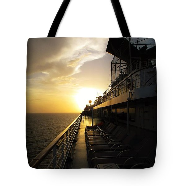 Cruisin' At Sunset Tote Bag