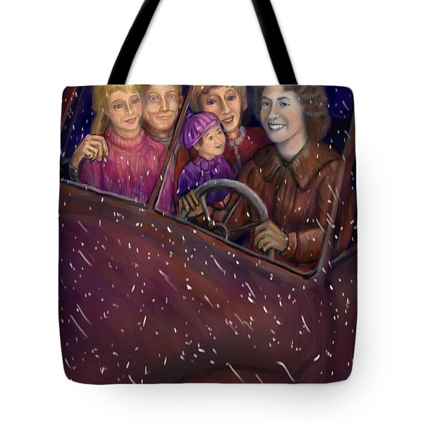 Cruisin' With The Big Kids Tote Bag by Dawn Senior-Trask
