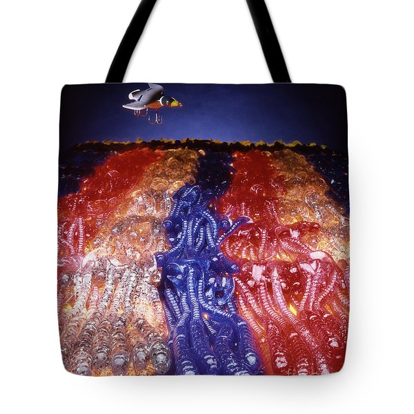 Cruising Above The Sea Of Worms Tote Bag