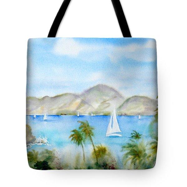 Cruising In The Caribbean Tote Bag