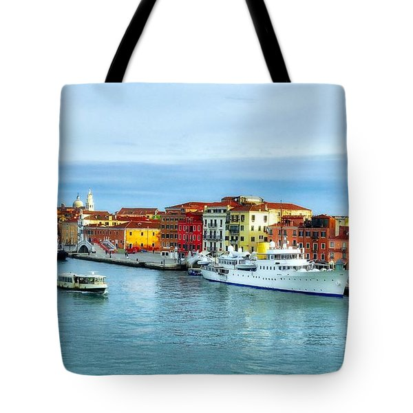 Tote Bag featuring the photograph Cruising Into Venice # 2 by Mel Steinhauer