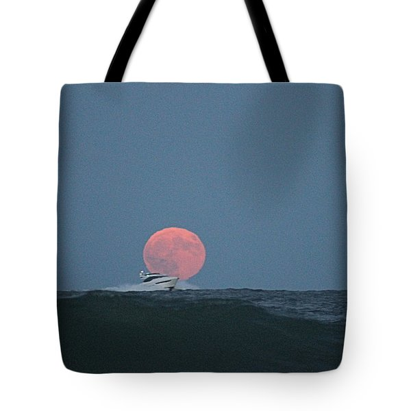 Cruising On A Wave During Harvest Moon Tote Bag
