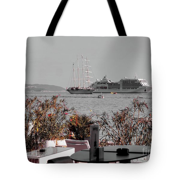 Cruising Past And Present Tote Bag
