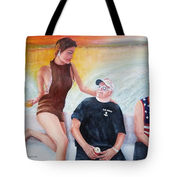 Cruising The 4th Of July Tote Bag