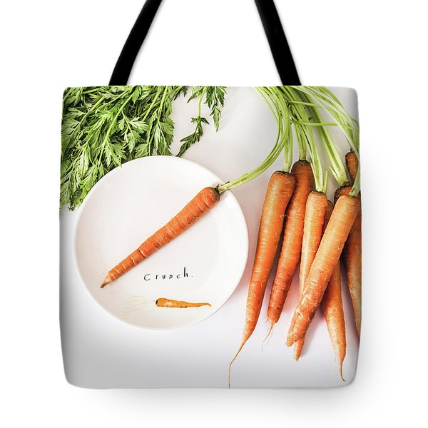 Tote Bag featuring the photograph Crunch by Kim Hojnacki