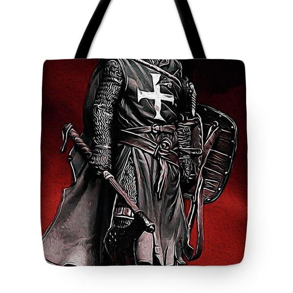 Crusader Warrior - Medieval Warfare Tote Bag