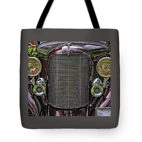 Crusin' With A 32 Desoto Tote Bag by Thom Zehrfeld