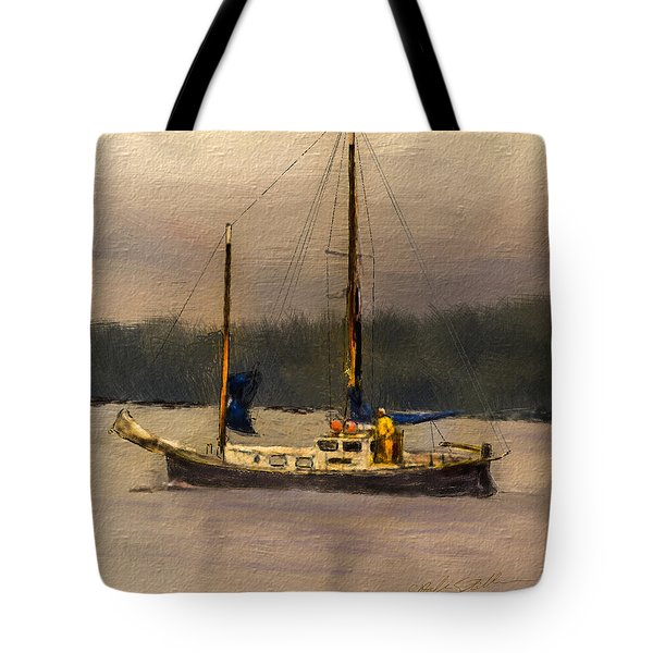Crusing The Sound Tote Bag by Dale Stillman