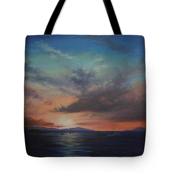Cruz Bay Sunset By Alan Zawacki Tote Bag