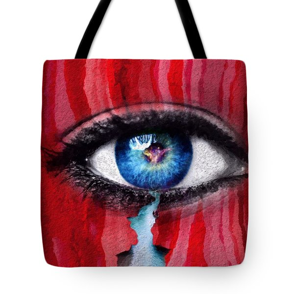 Tote Bag featuring the painting Cry Me A River by Mark Taylor