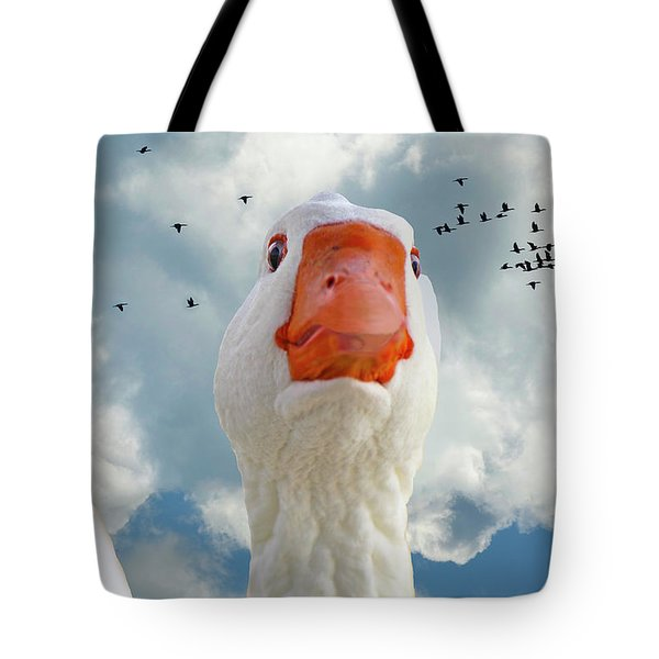 Cry Of The Wild Goose Tote Bag