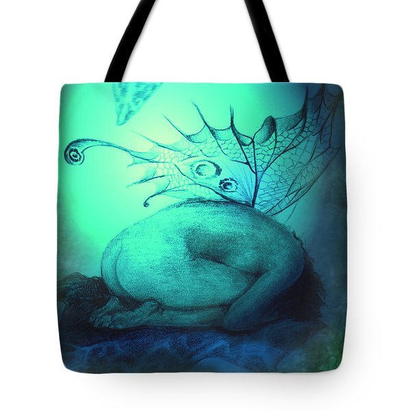 Crying Fairy Tote Bag by Ragen Mendenhall