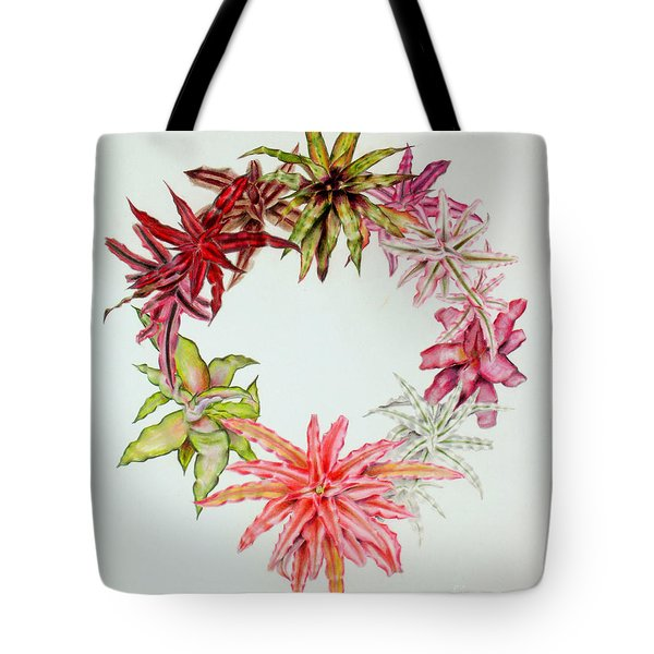 Cryptanthus Wreath Tote Bag