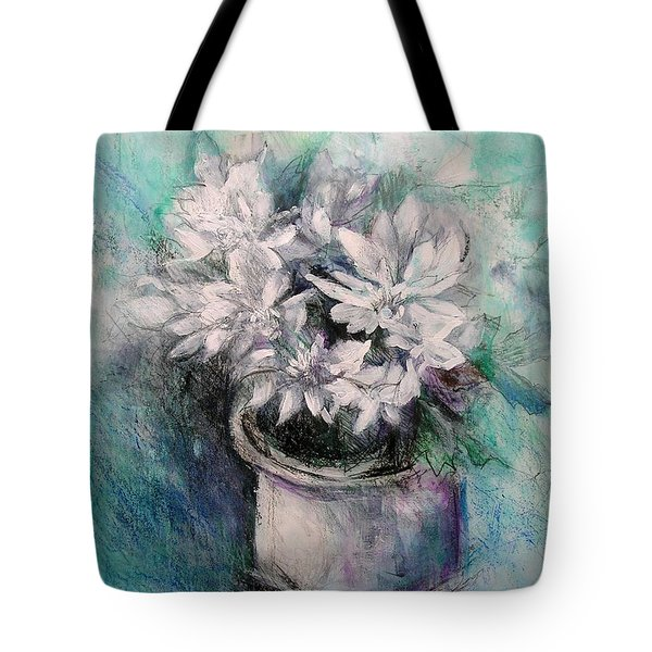 Tote Bag featuring the painting Crysanthymums by Chris Hobel