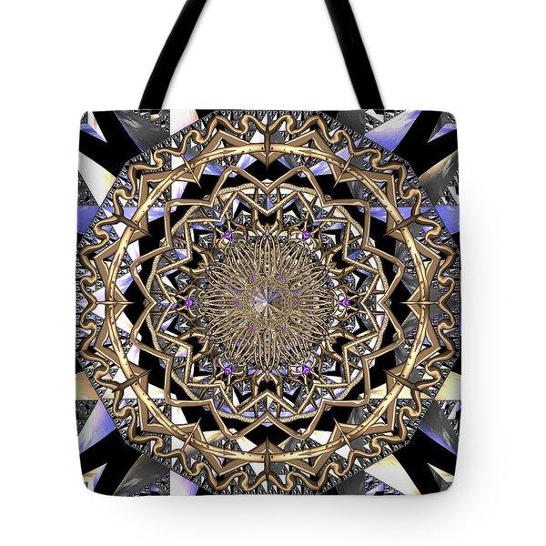 Tote Bag featuring the digital art Crystal Ahau  by Robert Thalmeier