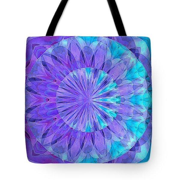 Crystal Aurora Borealis Tote Bag
