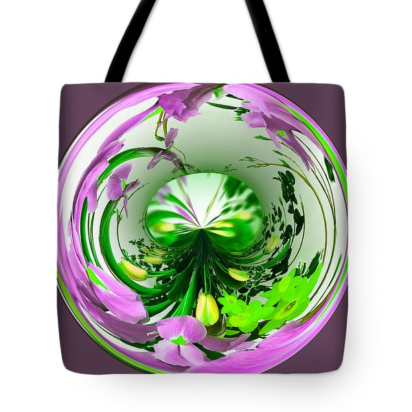 Crystal Ball Flower Garden Tote Bag by Ericamaxine Price