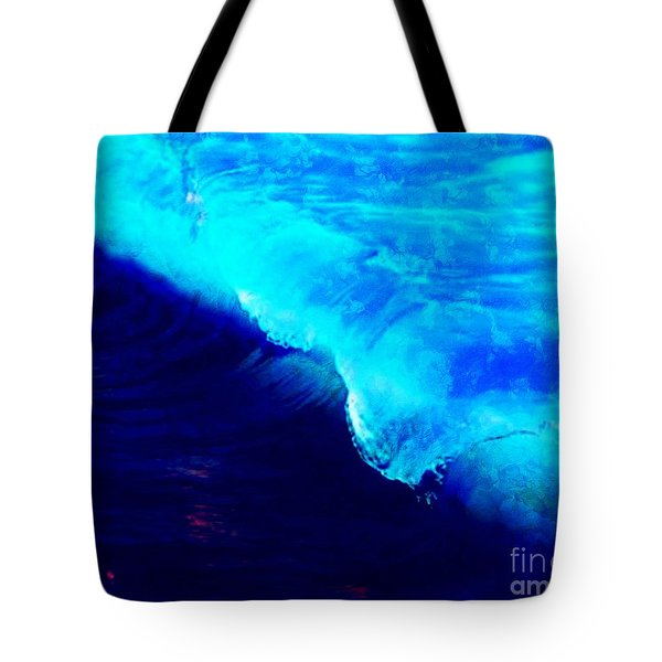 Crystal Blue Wave Painting Tote Bag by Catherine Lott