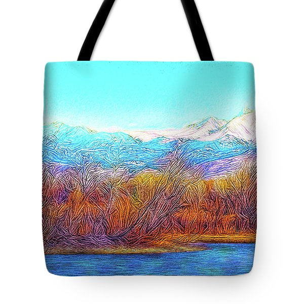 Crystal Blue Winter Day Tote Bag