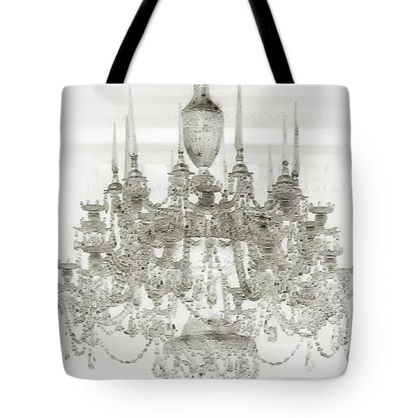Tote Bag featuring the photograph Crystal Chandelier by Joseph Hollingsworth