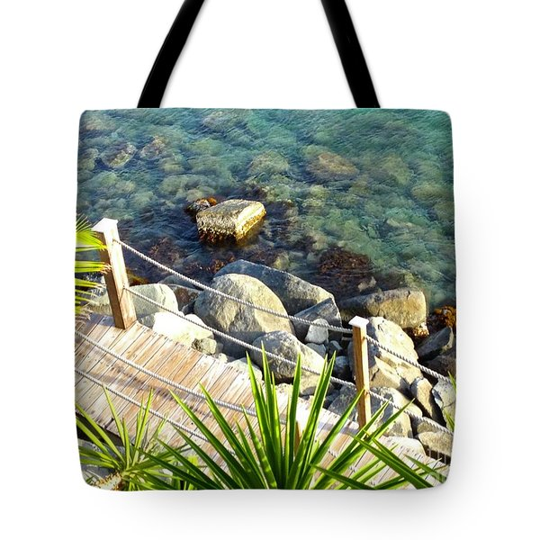 Crystal Clear Tote Bag by Beth Saffer