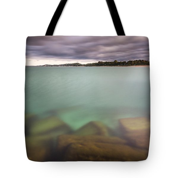 Tote Bag featuring the photograph Crystal Clear Lake Michigan Waters by Adam Romanowicz