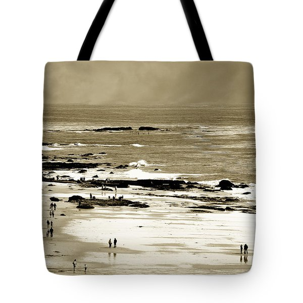 Tote Bag featuring the photograph Crystal Cove Social by Joseph Hollingsworth