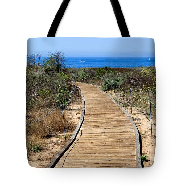 Crystal Cove State Park Wooden Walkway Tote Bag by Paul Velgos