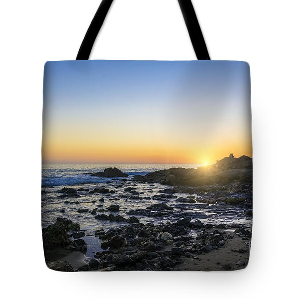 Tote Bag featuring the photograph Crystal Cove Sunset by Anthony Baatz
