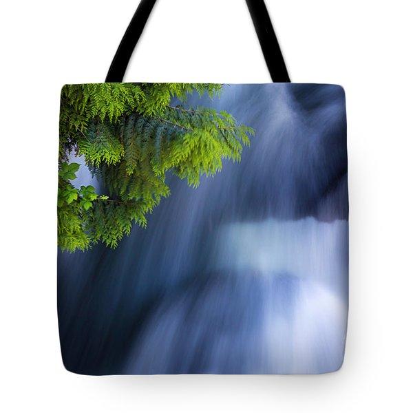 Crystal Creek Waterfalls Tote Bag
