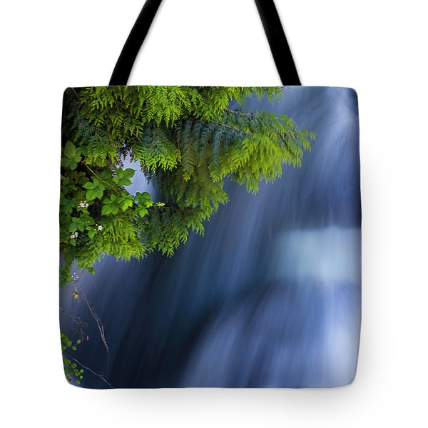 Crystal Creek Waterfalls Tote Bag