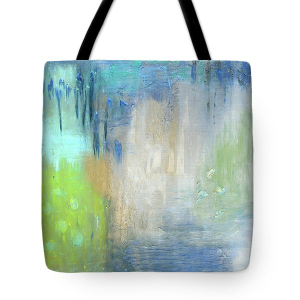 Tote Bag featuring the painting Crystal Deep  by Michal Mitak Mahgerefteh