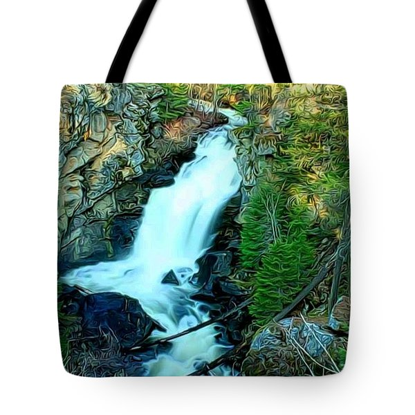 Crystal Falls , Washington Tote Bag