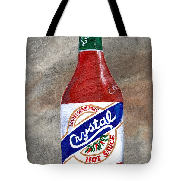 Crystal Hot Sauce Tote Bag by Elaine Hodges