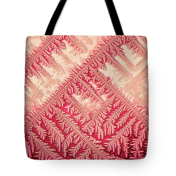 Crystal In Red Pigment Tote Bag
