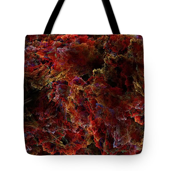 Tote Bag featuring the digital art Crystal Inspiration Number Two Close Up by Olga Hamilton